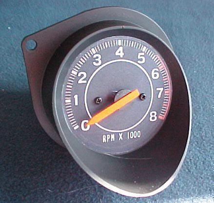 70-74 E BODY NON RALLY DASH TACHOMETER, REPLACES BLANK OR CLOCK